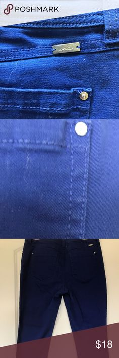INC, International Blue Ankle Jeans Darling vibrant jeans. Great fit. Worn twice! INC International Concepts Jeans Ankle & Cropped
