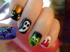 spooky halloween nails
