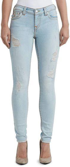 2b8088f6cab9 True Religion WOMENS BIG T DISTRESSED SUPER SKINNY JEAN W  FLAP. No Name ·  Distressed Jeans