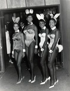 Ebony Playboy Bunnies  Chicago Playboy Club circa 1960s