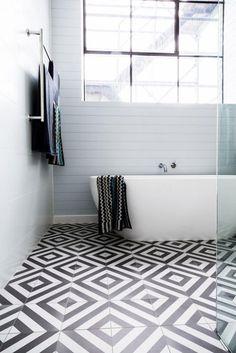 Die 31 besten Bilder von Fliesen schwarz weiß | Tiles, Black tiles ...