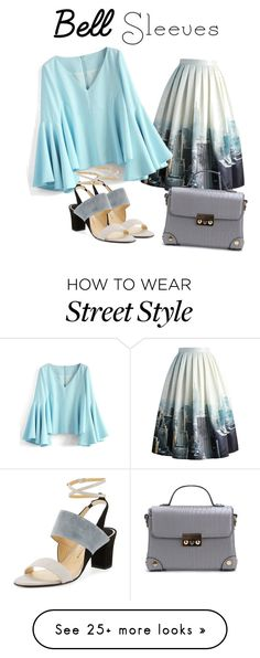 """""""Street Style Trend: Bell Sleeves"""" by earthlyangel on Polyvore featuring Chicwish and Paul Andrew"""