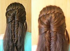 Twisted Waterfall ended with French Braid by Czarna712