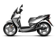 Vectrix VT-1 Electric Scooter - Concept Sketch - Side View