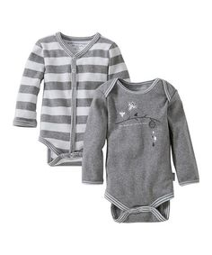 Look what I found on #zulily! Heather Gray Organic Bodysuit Set by Burt's Bees Baby #zulilyfinds