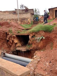 Public sewage walkways