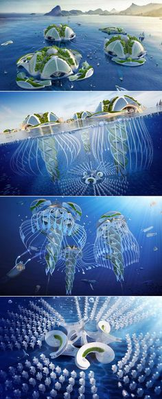 Aequorea: Amazing futuristic architecture concept by Vincent Callebaut - - Aequorea: Amazing futuristic architecture concept by Vincent Callebaut Green Architecture Architektur Floating Architecture, Futuristic Architecture, Sustainable Architecture, Beautiful Architecture, Architecture Design, Architecture Today, Parametric Architecture, Futuristic City, Futuristic Technology