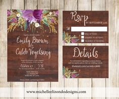 A personal favorite from my Etsy shop https://www.etsy.com/listing/231323517/printable-wedding-suite-rustic-digital