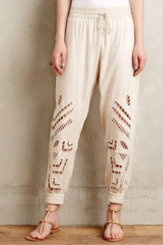 Cutwork Joggers by Dolan Left Coast #anthrofave #anthropologie