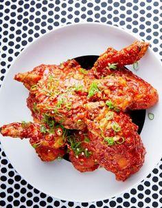 Poulet frit coréen, sauce piquante - ELLE                              …