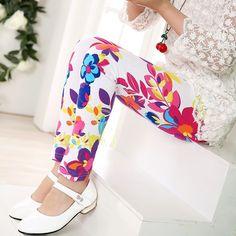 Girls Leggings Spring Summer 2016 New Girls Clothes Flower Baby Kids Leggings for Girls Toddler Children Clothing Pants Trousers