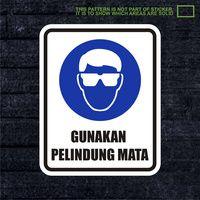WSKPC062 Sticker Safety Sign Warning Sign Gunakan
