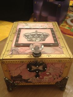Beautifully altered cigar box created for Jen.