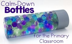 Here are 4 simple one-ingredient calm down bottles for the classroom. Put them together and use them when your students need a few minutes to regroup.