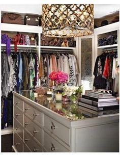 Glamorous closet for a normal walkin or small room.