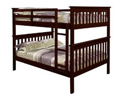 Mission Bunkbed with Slat-Kits - Full over Full - http://www.furniturendecor.com/mission-bunkbed-with-slat-kits-full-over-full/ - Related searches: Bedroom Furniture, Beds and Bed Frames, Furniture, Home and Kitchen