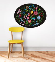 Colorful flower illustration. Wall sticker / wall decal by DURIDO