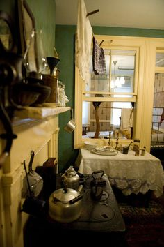 Kitchen at 97 Orchard Street: The Lower East Side Tenement Museum, a historic structure that offers a peek into the life of new immigrants on Manhattan's Lower East Side.