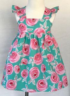 New Flower Girl Dress Pink Roses Baby Dress Girls Dress Pink Flower Girl Dresses, Little Dresses, Little Girl Dresses, Girls Dresses, Baby Dresses, Dress Girl, Baby Girl Dress Patterns, Dress Sewing Patterns, Skirt Patterns