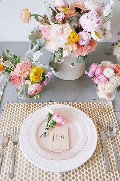Ideas Spring Bridal Brunch Inspiration For 2019 Brunch Decor, Brunch Table Setting, Brunch Ideas, Beautiful Table Settings, Mothers Day Brunch, Wedding Decorations, Table Decorations, Deco Floral, Deco Table