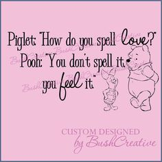 Winnie the Pooh Wall Decal Piglet to Pooh Nursery