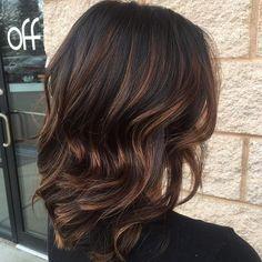 Medium Brunette Hair With Chocolate Highlights