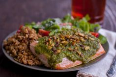 Recipe of the Day: Salmon Fillets with Pesto & Pistachio