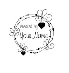 Handle Mounted Personalized Name custom made by mycustomstamps