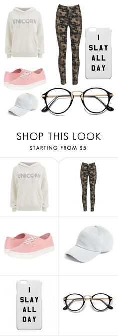 """uniCorn Slays"" by vaehdayx ❤ liked on Polyvore featuring Wildfox, Vans and rag & bone"
