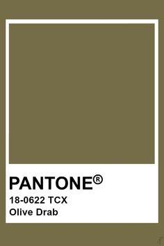 Pantone Olive Drab