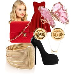 DrC's creation on Polyvore Red set