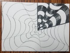 How to Draw an Op Art Bullseye - Art by Ro Drawing Practice, Line Drawing, Optical Illusions, How To Draw Illusions, Illusion Drawings, Victor Vasarely, Vanishing Point, Artist Trading Cards, Op Art
