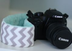 Customizable Camera Strap Slipcover with Minky only $12.99! Super Cute!