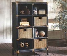 Rattan Bookcase by CORT