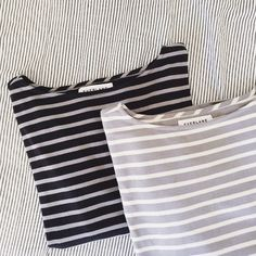 Two Everlane Heavyweight Tees Reposh due to fit, never worn by me! No issues from previous posher. In excellent condition! Super cute shirts, just a little too long on my short torso! Everlane Tops Tees - Long Sleeve
