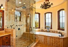 Everybody loves Raymond actor, Brad Garrett's master bath