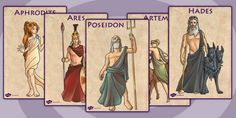 This resource covers the main vocabulary for this topic, with a different key word or phrase on each poster and one of our own hand drawn images to illustrate it. Great for display, as discussion prompts, and reference. Ancient Greece For Kids, Ancient Greek, Greek And Roman Mythology, Greek Gods, Roman Gods, British History, Ancient Civilizations, Mythical Creatures, Vintage Sewing Patterns