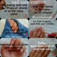 Diy nail care routine