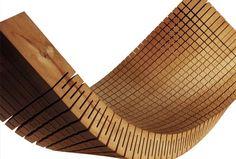 Wood flexible cut pattern