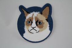 Fashion patch Large patch Grumpy Cat patch Iron on