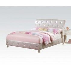 ACMEF30340T-Dorothy Twin Upholstery Bed