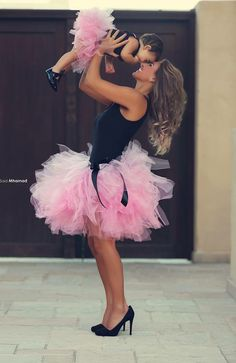 Sexy Fashion Variety Color Mother And Daughter Tulle Skirt Above Knee Ball Gown Family Clothing Mommy And Me Tutu Skirt Mother Daughter Photos, Future Daughter, Mother Daughter Matching Outfits, Mother Daughters, My Princess, Little Princess, My Baby Girl, Baby Love, Baby Girls