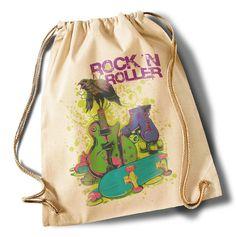 """""""Rock n Roller""""  Cotton Gymsack/Turnbeutel von MAD IN BERLIN auf DaWanda.com"""