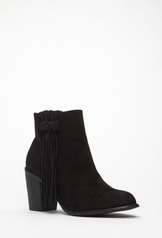 Fringed Faux Suede Booties | FOREVER21 - 2000118785