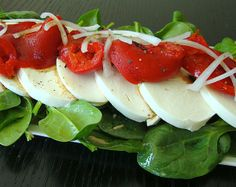 "Roasted Pepper Mozzarella Salad (Mia says, ""Healthy doesn't have to be complicated!"")"