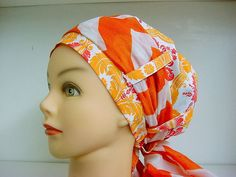 Womens Hybrid Sash Style Surgical Scrub Hat Chemo by ilovethathat