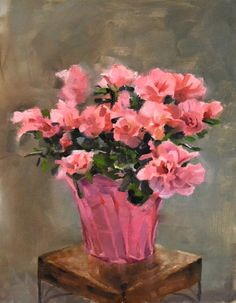 """Azaleas""... Oil on Stretched Canvas Size: 12"" x 16"" Unframed The price includes shipping in the Continental U.S. only. Shipping outside of the Continental U.S.? Please email us and we will get the lo"