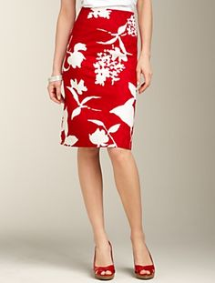 Talbots - Floral Jacquard Skirt   Skirts   Apparel.  Love this skirt with a black top!