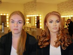 This just shows that if you have an amazing makeup artist, they can make you beautiful no matter what you look like.