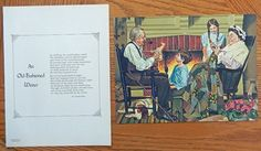 Old Fashioned Winter  poen by Elsie Natalie Brady  painting  The Quiet Hour by John Slobodnik